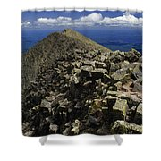 Abutting The Clouds, Hikers Rest Atop Shower Curtain