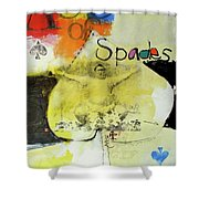 Ace Of Spades 25-52 Shower Curtain by Cliff Spohn