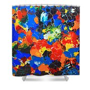Acrylic Abstract Upon Wood Shower Curtain