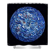 Acrylic Planet In Space - 2006 Shower Curtain