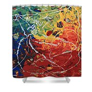 Acrylic  Poured  And  Dripped  2001 Shower Curtain