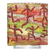 Acrylic Stickmen 2009 Shower Curtain