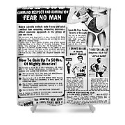 Ad: Body-building, 1969 Shower Curtain