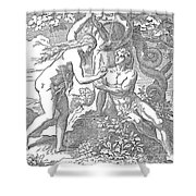Adam & Eve Shower Curtain