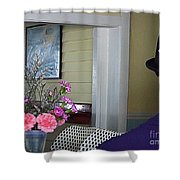 Admiring The Southernmost Flowers Shower Curtain