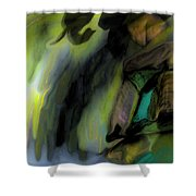 Adrift In The Storm Shower Curtain
