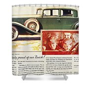Ads: Buick, 1932 Shower Curtain