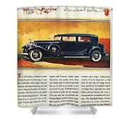 Ads: Packard, 1932 Shower Curtain