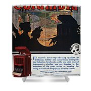 Ads: Phonograph, 1914 Shower Curtain
