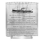 Advertisement: Steamship Shower Curtain
