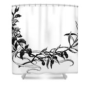 Advertising Art: Wreath Shower Curtain
