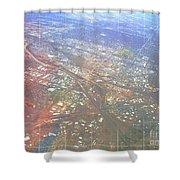 Aerial Graph Shower Curtain