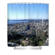 Aerial View - Sydney Harbour Shower Curtain