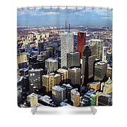 Aerial View From Cn Tower Toronto Ontario Canada Shower Curtain