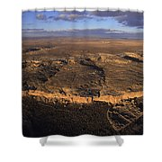 Aerial View Of Chaco Canyon And Ruins Shower Curtain