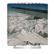 Aerial View Of Himalaya From Plane En Shower Curtain