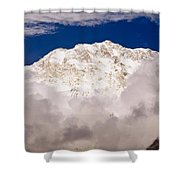 Aerial View Of Mountains, Annapurna Shower Curtain