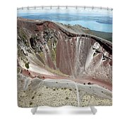 Aerial View Of Rhyolite Dome Complex Shower Curtain