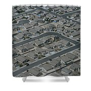Aerial View Of Suburban Shower Curtain