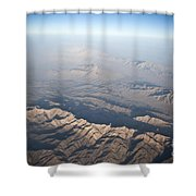 Aerial View Of The Mountainous Shower Curtain