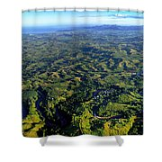 Aerial View Of The Nadi River Winding Shower Curtain