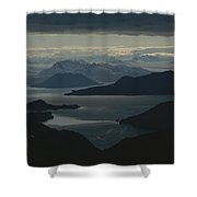 Aerial View Of The Sound Shower Curtain