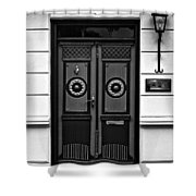 Aeroskobing Monochrome Shower Curtain