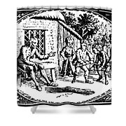 Aesop: Father & His Sons Shower Curtain by Granger