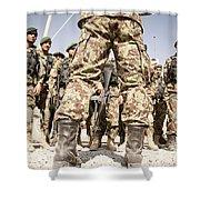 Afghan Air Force Members Get Briefed Shower Curtain