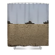 Afghan Army Convoy Drives Shower Curtain