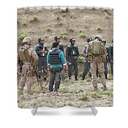 Afghan Police Students Listen To U.s Shower Curtain