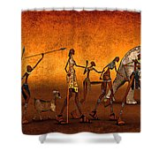 Africa Shower Curtain by Jutta Maria Pusl