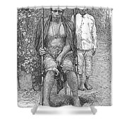Africa: Makololo Chief Shower Curtain