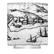 Africa: Portuguese Fort Shower Curtain