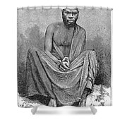 Africa: Yao Chief, 1889 Shower Curtain