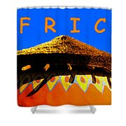 African Dwelling Shower Curtain