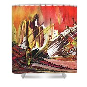 After The Earthquake Shower Curtain