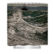 After The Hurricane Cape Cod Shower Curtain