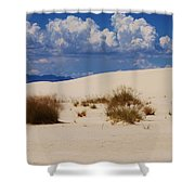 Afternoon At White Sands National Monument Shower Curtain