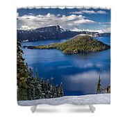 Afternoon Clearing At Crater Lake Shower Curtain