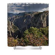 Afternoon Clouds Over Black Canyon Of The Gunnison Shower Curtain