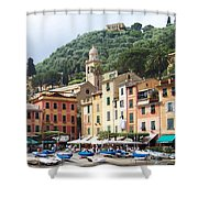 Afternoon In Portofino Shower Curtain