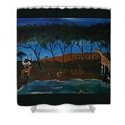 Afternoon In The Serengeti Shower Curtain