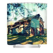 Afternoon Light On Barn Shower Curtain