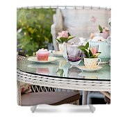 Afternoon Tea And Cakes Shower Curtain