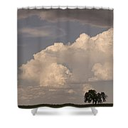 Afternoon Thunderstorm Building East Boulder County Co Plains Shower Curtain