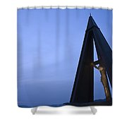 Against The Dusk Shower Curtain