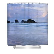 Against The Tides Shower Curtain