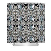 Agate-38e Border Tiled Shower Curtain