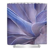 Agave Abstract In Lilac Shower Curtain